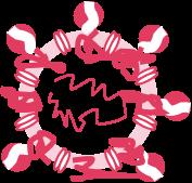 structure of enveloped viruses - denatured proteins